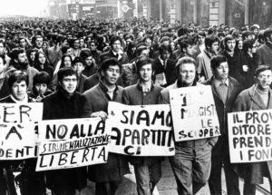 Una manifesta studentesca.